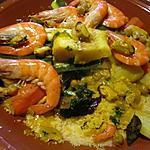 recette Couscous aux fruits mer et poisson.