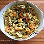 recette Salade de pâtes aux crevettes exquises et menu canicule +