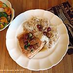 recette Filet de truite express, sauce aux raisins à l'asiatique +