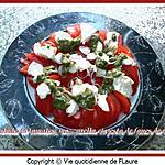 recette Salade de tomates, mozzarella et pesto de fanes de radis