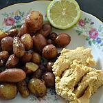 recette Pommes de terre rôties et houmous