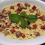 recette Coquillettes au chorizo/champignons.