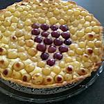 recette tarte aux raisins a la crème d'amandes