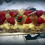 recette Tiramisu mascarpone aux fraises.