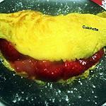 recette Omelette sucrée aux fraises.