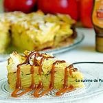 recette Gâteau invisible aux pommes et combava et son filet de caramel au beurre salé Raffolé