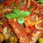 recette Ragout de travers de porc aux poivrons