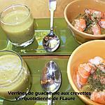 recette Verrine de guacamole aux crevettes