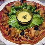 recette Couronne de pizza aux crustacés.poisson.mozzarella.