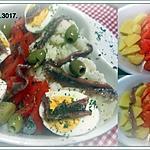 recette Plat entrée aux légumes et anchois.
