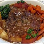 recette Bœuf mariné au vin rouge,et légumes.Cookéo.