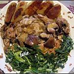recette Sauté de porc et champignons brun,béchamel.cookéo.
