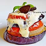 recette Petite tour de tomate, aubergine et oignon, végétarien