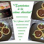 recette Tartelettes à la crème chocolat.
