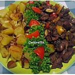 recette Rognons de boeuf accompagné de pommes de terre sautées.