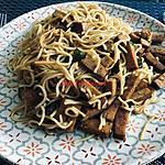 recette Nouilles chinoises au tofu fumé et piment