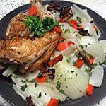 recette 1/2 poulet aux carottes et fenouil.