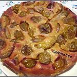 recette Clafoutis aux prunes quetsches.