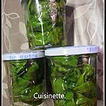 recette Basilic frais à huile d'olive.
