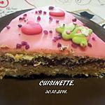 recette Gâteau au chocolat .pâte d'amande.sans cuisson.