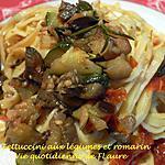 recette Fettuccini aux légumes et romarin