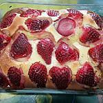 recette Clafoutis aux fraises & crème fraiche.