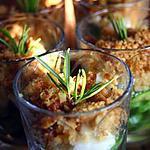 recette Crumble de courgettes au romarin en verrine