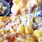 recette Pommes de terres fondantes poireaux lardons fromage des alpes