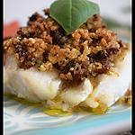 recette Cabillaud en croûte de basilic et tomates séchées