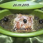 recette Papillote de poisson. épinards.micro-ondes.