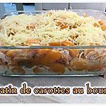 recette GRATIN DE CAROTTES AU BOURSIN