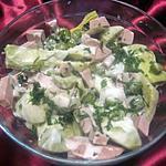 recette salade de cervelas et cœurs d'artichaut.