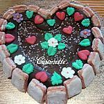 recette Gâteau St Valentin.chocolaté/pomme.