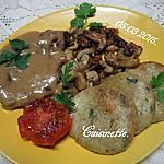 recette Tranches gigot d'agneau s/os.sauce 3 poivres