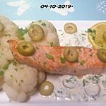 recette Pavés de saumon rose au chou-fleur en sauce.