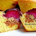 recette Muffin à la prune et caramel au beurre salé Raffolé