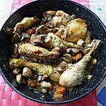 recette Fricassée  de poulet forestiére