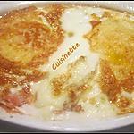 recette Barquettes aux œufs sur une sauce tomates gratinées.