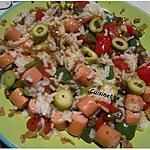 recette riz aux poivrons,olives,snacks.