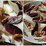 recette Salade d'endives aux noix et magret séché maison