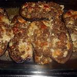 recette Aubergies farcies au veau et a la mozzarellla