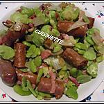recette Merguez aux fèves pelées.