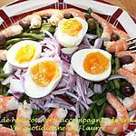 recette Salade de haricots verts accompagnée de crevettes