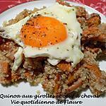 recette Quinoa aux girolles et œuf à cheval