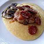 recette Lapin et chorizo grillés sur lit de polenta