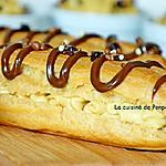 recette Eclair garni de crème à la confiture de lait Raffolé