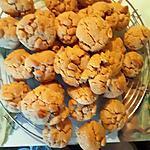 recette Cookes avoine et cacahuètes