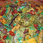 recette Tajine de poulet et de patates douces aux tomates confites. du blog cccuisine.over-blog.com