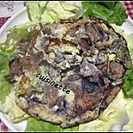 recette Omelette aux champignons des près.