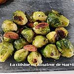 recette Choux de Bruxelles aux amandes